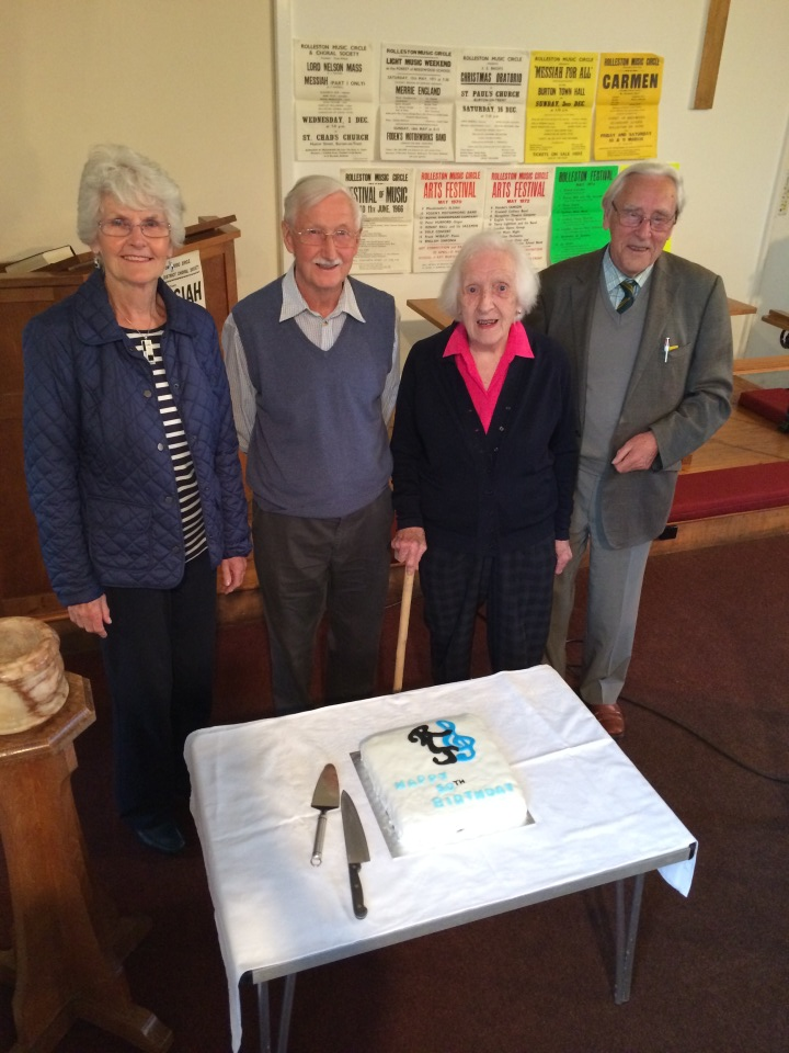 Freda, Bob, June and Alan - founder members