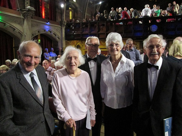 June, Alan, Freda and Bob with a past soloist on the left