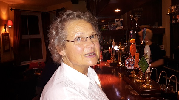 Carol Sherwin at the bar