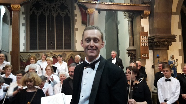 A relieved Simon after the concert