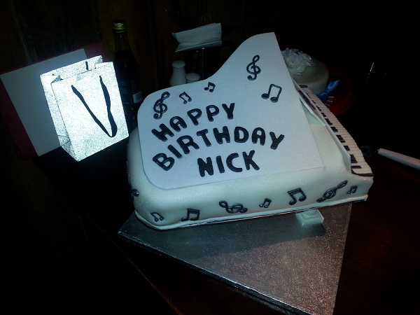 Nick's piano cake by Carol Koblanski